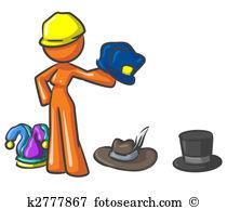 Many hats Illustrations and Clip Art. 204 many hats royalty free.