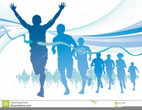 Free Clipart Marathon Runner.