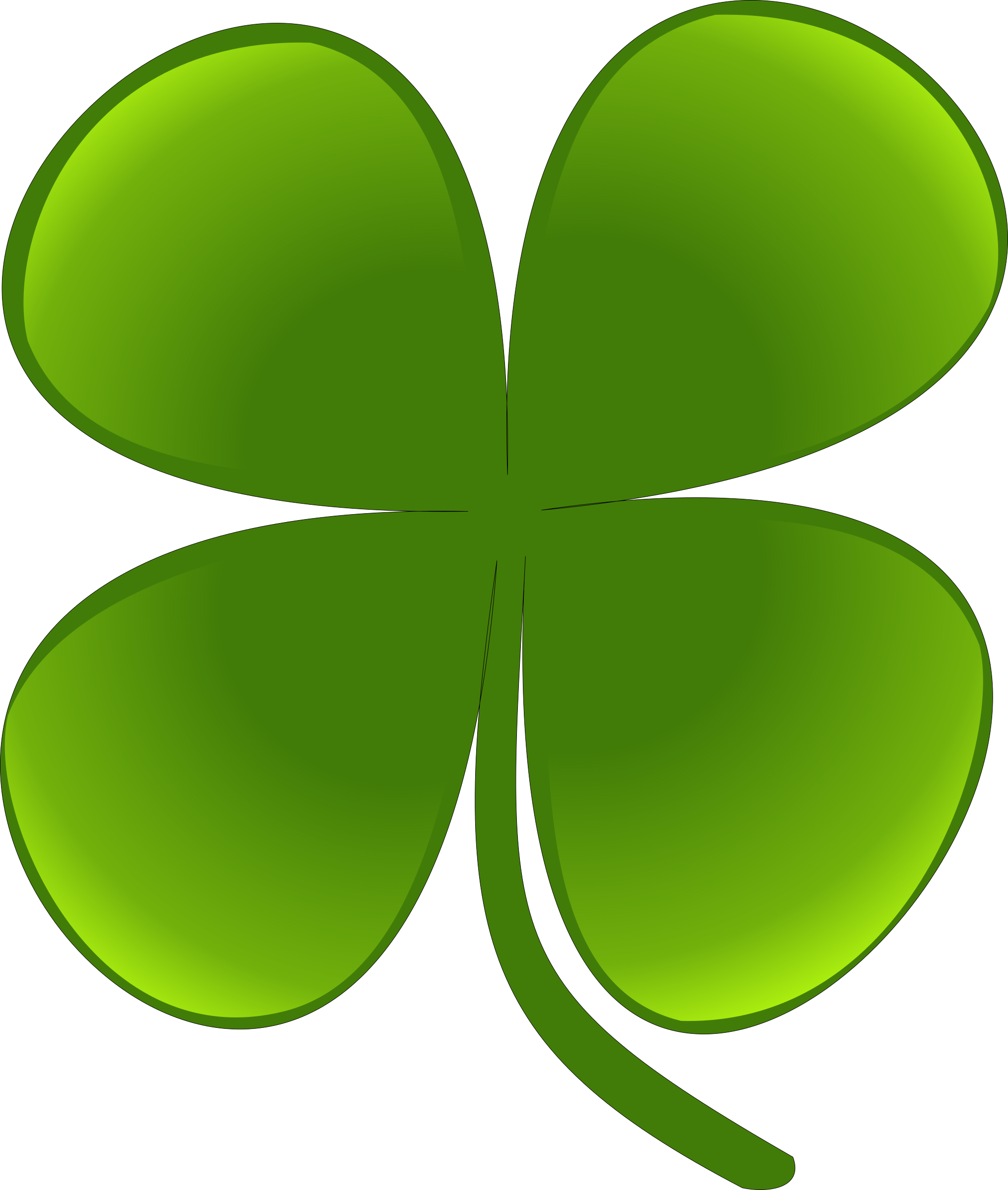 March Shamrock Free Clipart.