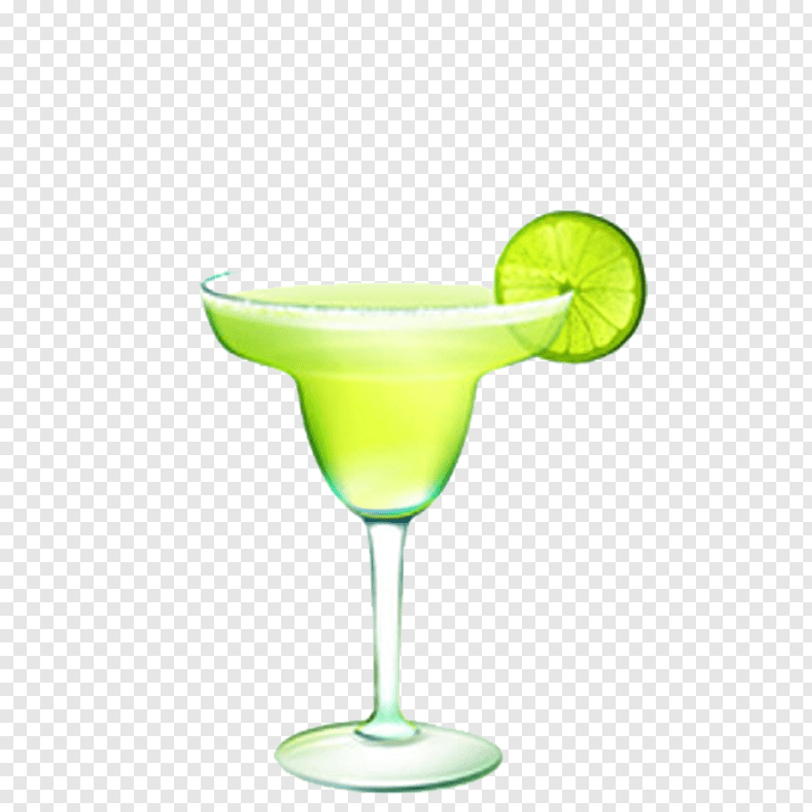 Sliced lemon in margarita glass, Margarita Cocktail Tequila.