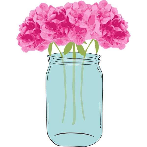 Mason jar clip art 9 flowers in mason jar clipart free.