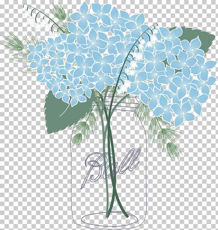 French hydrangea Mason jar Oakleaf hydrangea Flower.