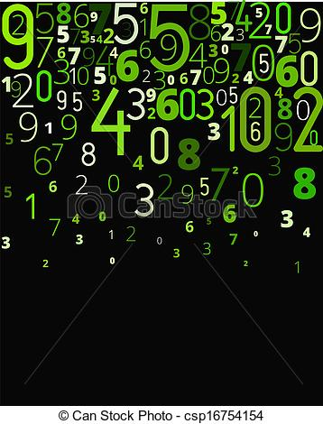Clipart Vector of Vector background from numbers.