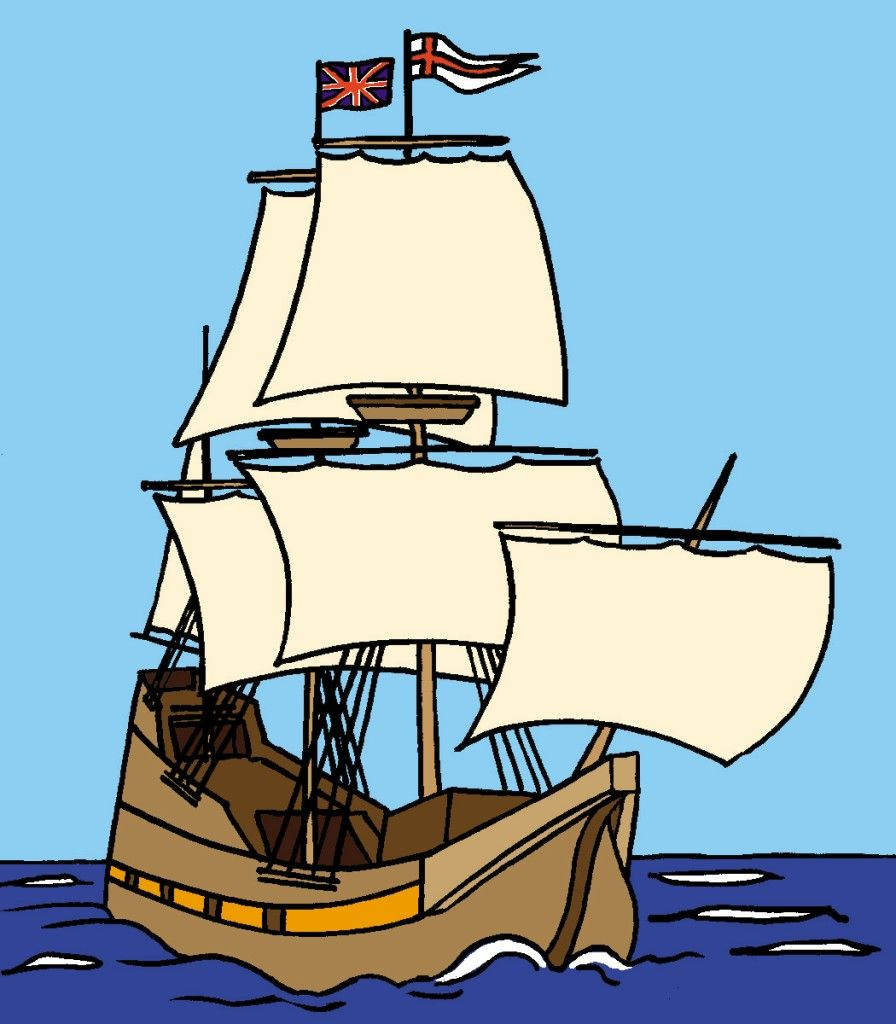 Mayflower ship clip art.