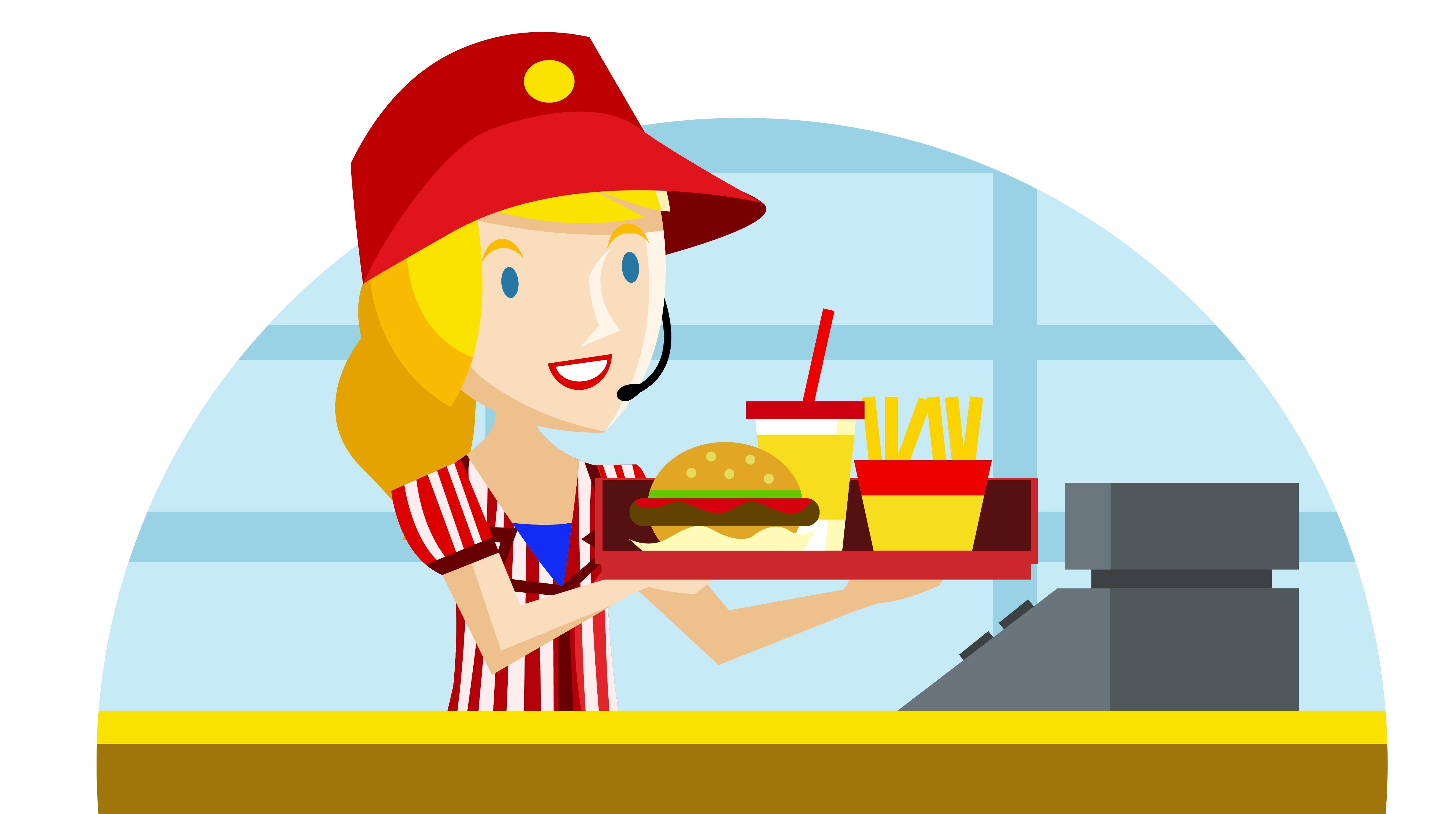 Mcdonalds Cartoon Food.