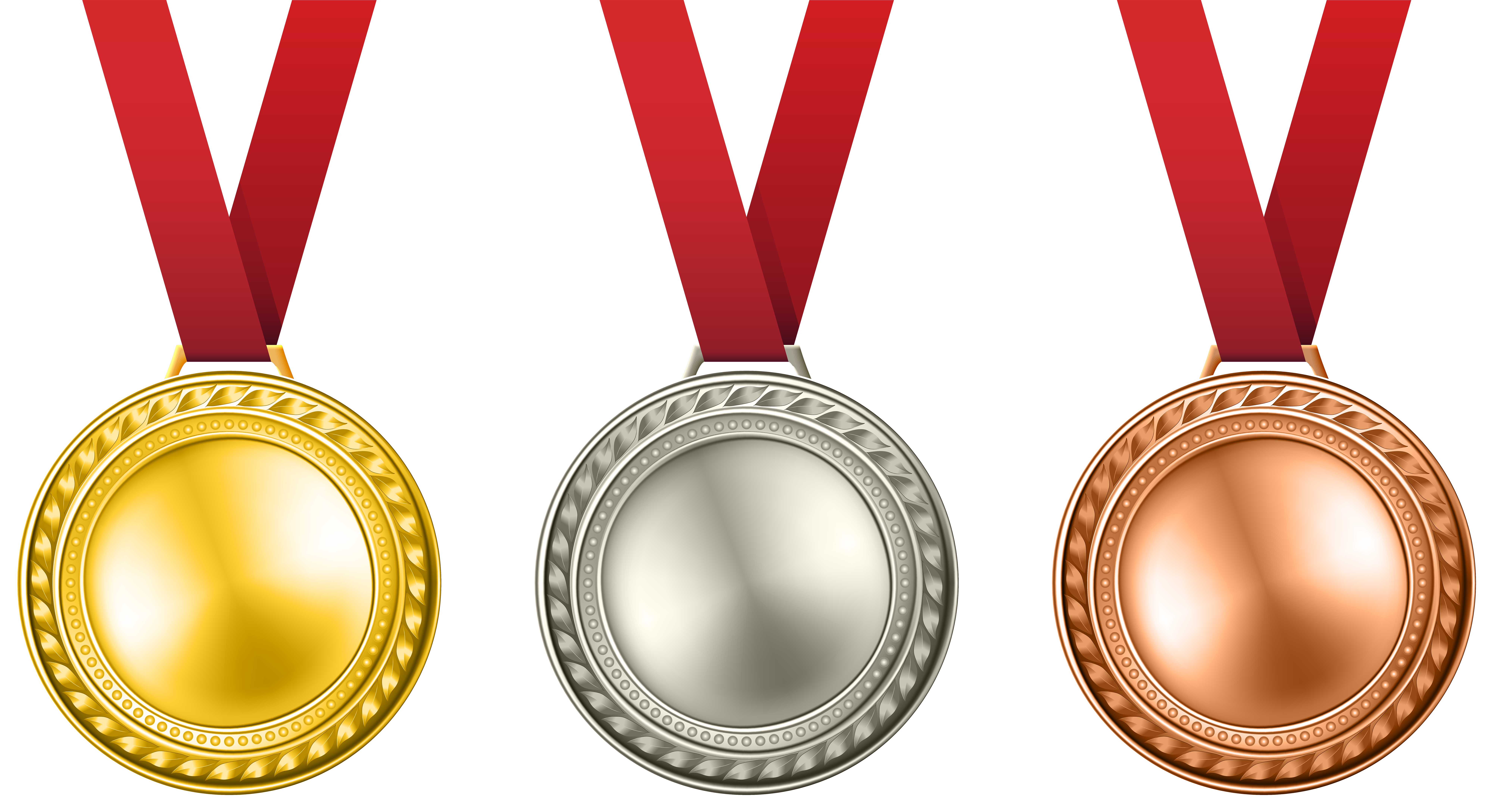 Medals and Ribbons Clip Art.