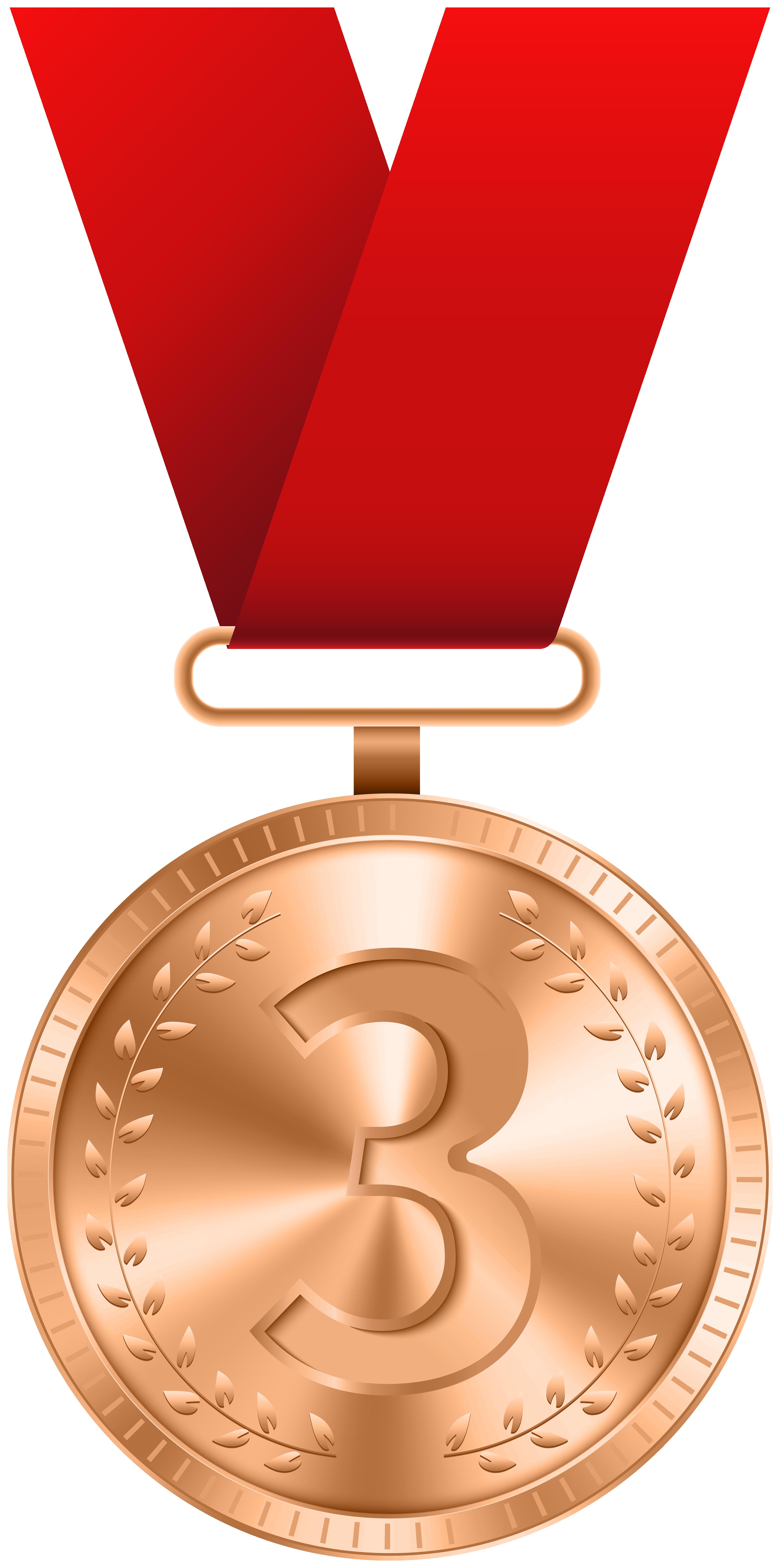 Bronze Medal PNG Clip Art Image.