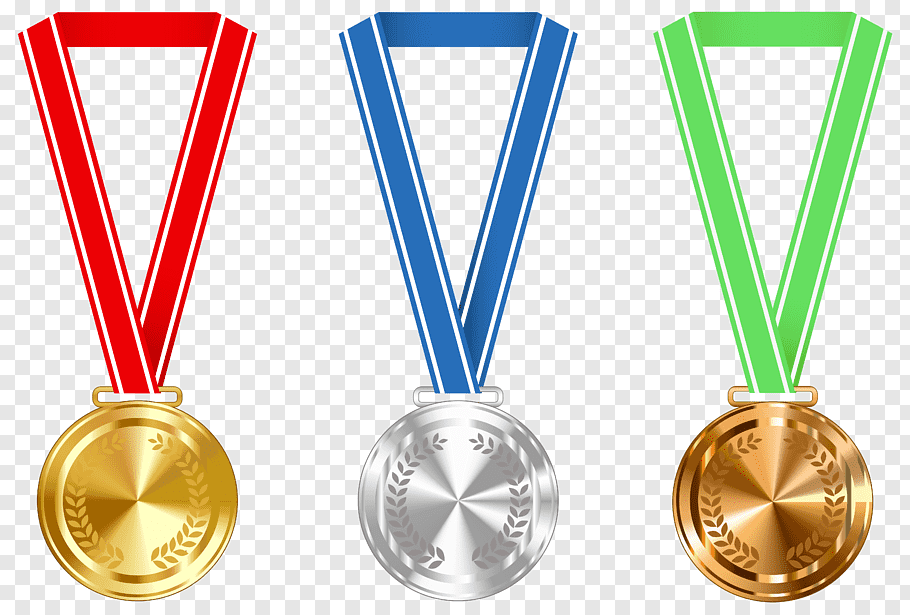 Gold medal Award, Gold Silver and Bronze Medals, three.