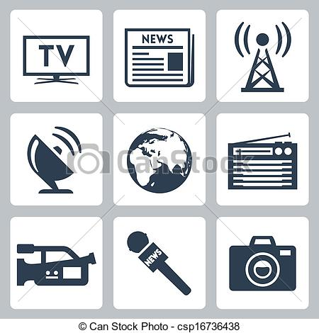 Mass Media Clipart.