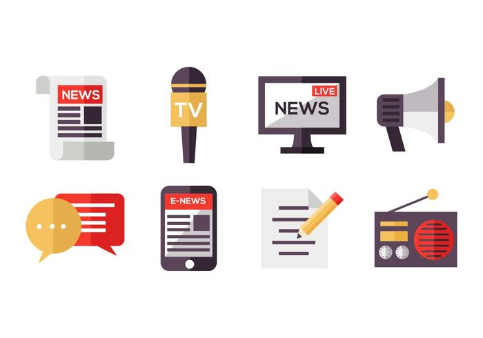 Free Mass Media Icons Vector.