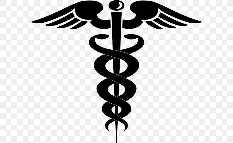 Staff Of Hermes Caduceus As A Symbol Of Medicine Clip Art.