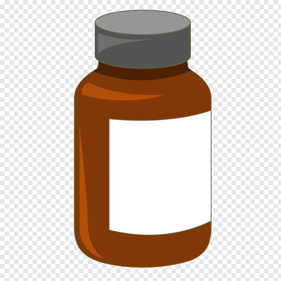 White and brown jar illustration, Bottle Medicine, Medicine.