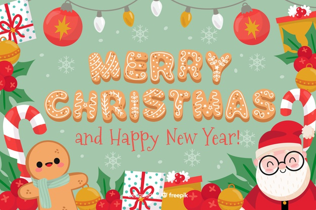 Merry christmas and happy new year background Vector.