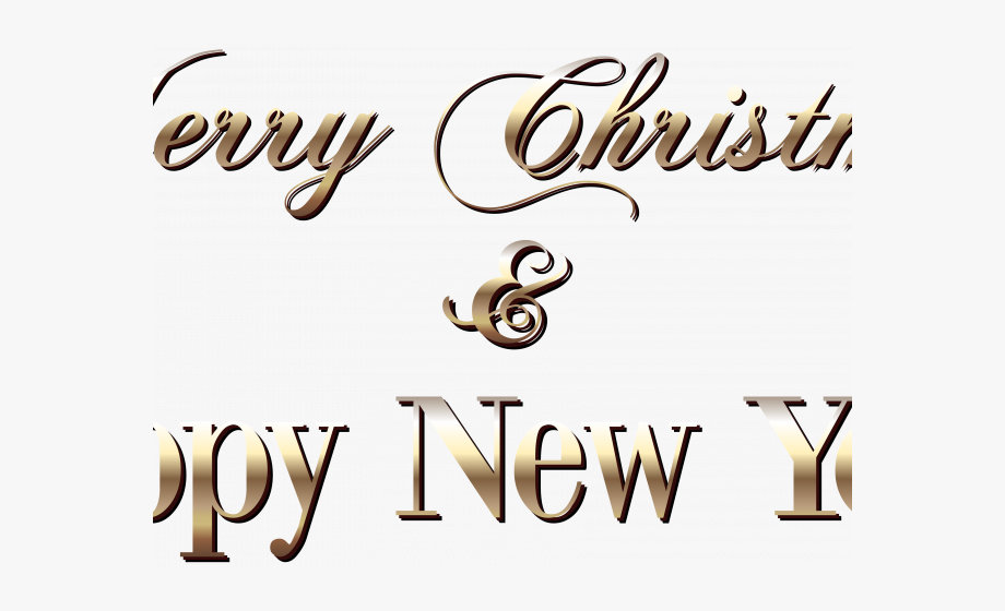 Free Merry Christmas And Happy New Year Clip Art With.