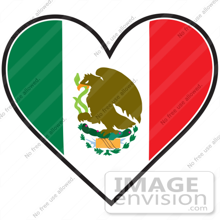 175 Mexican Flag free clipart.