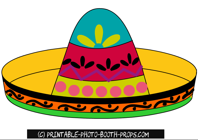 Free Printable Sombrero Photo Booth Prop in 2019.