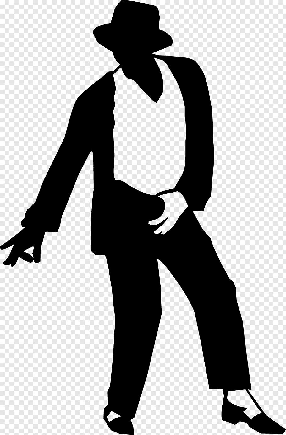 Moonwalk Silhouette Sticker Decal, Michael Jackson dancing.