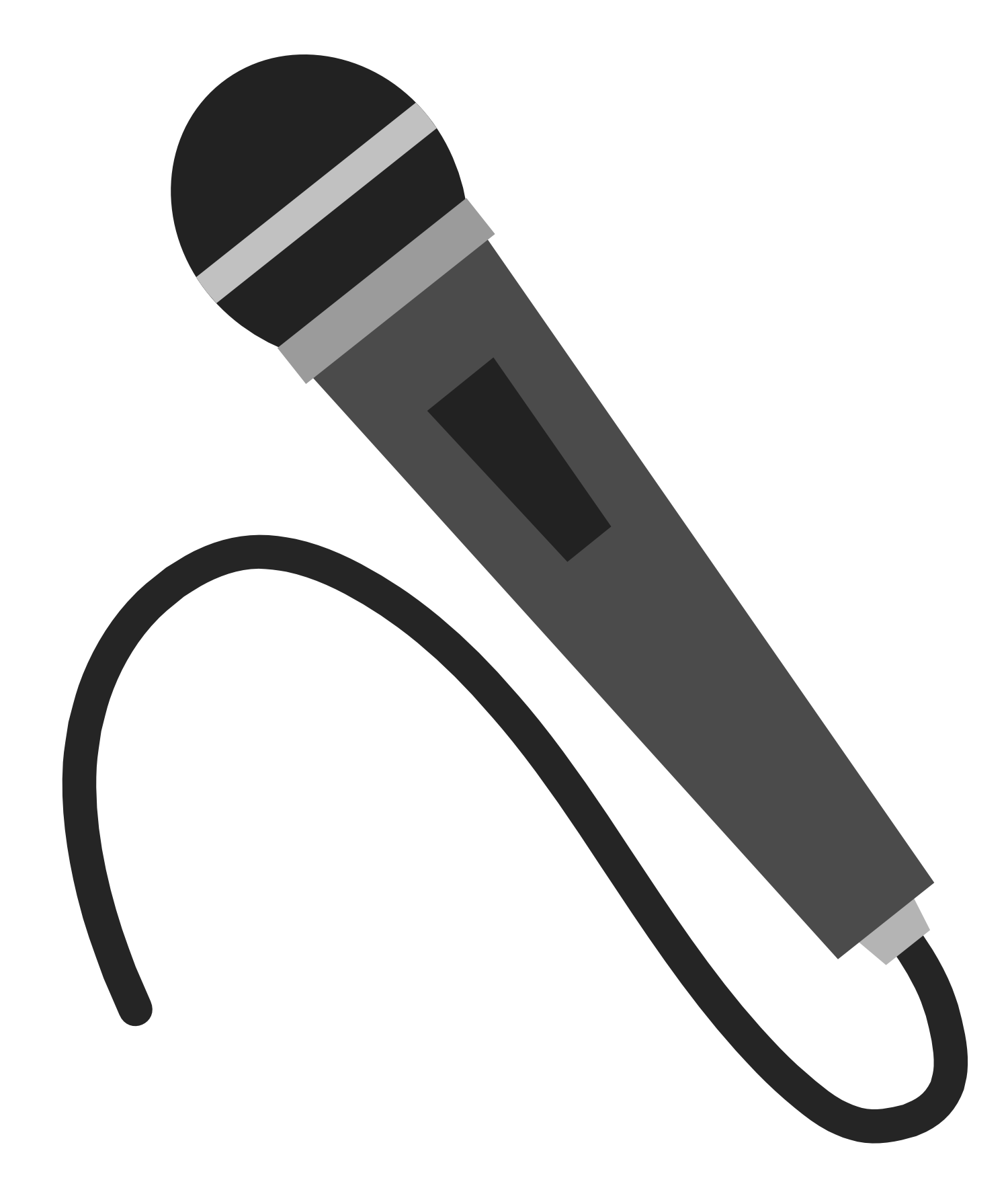 Radio microphone free clipart images.