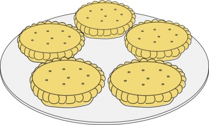 Mince Pies clip art free vector.