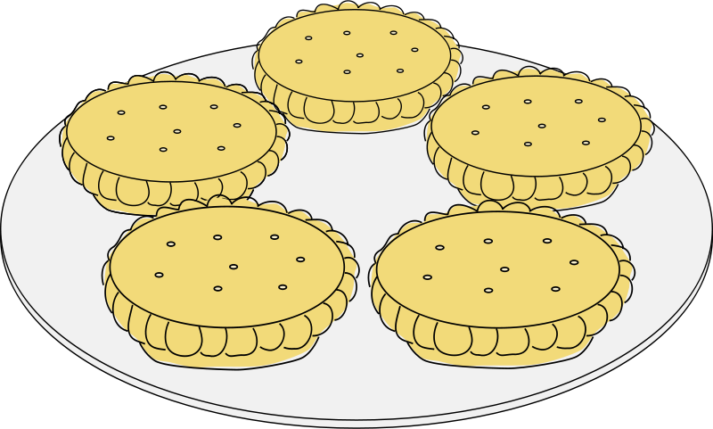 Free Clipart: Mince pies.