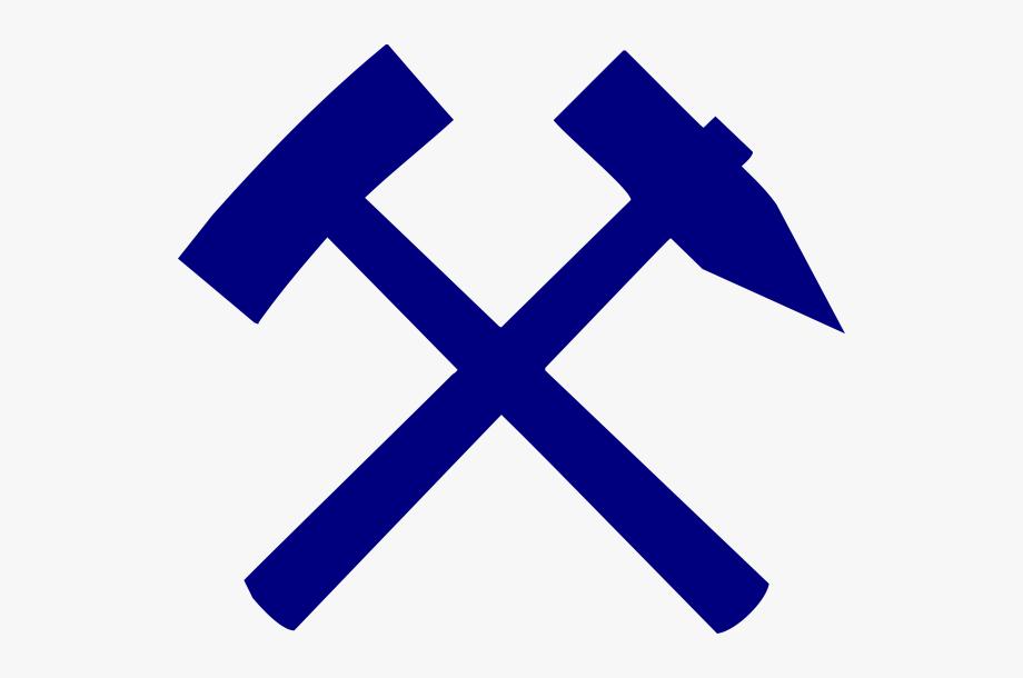Mining In Blue Clip Art.