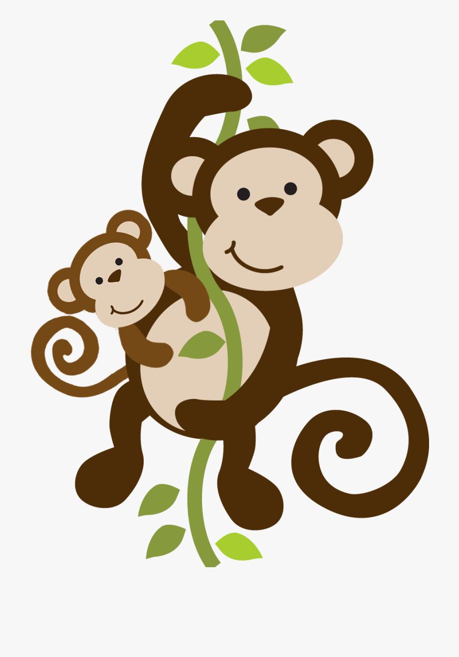 Mommy Clipart Baby Monkey.
