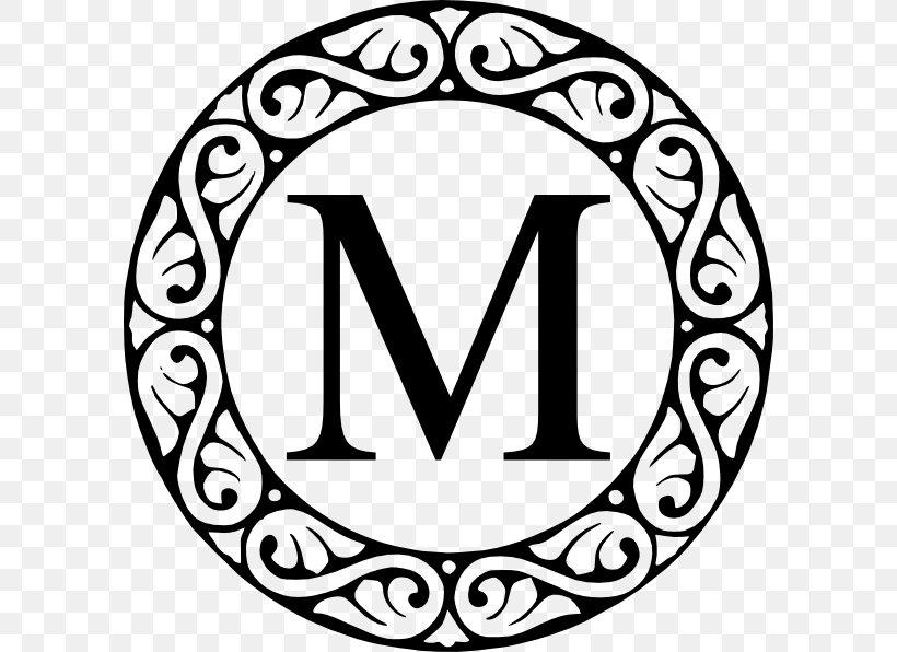 Monogram Clip Art, PNG, 594x596px, Monogram, Area, Black And.