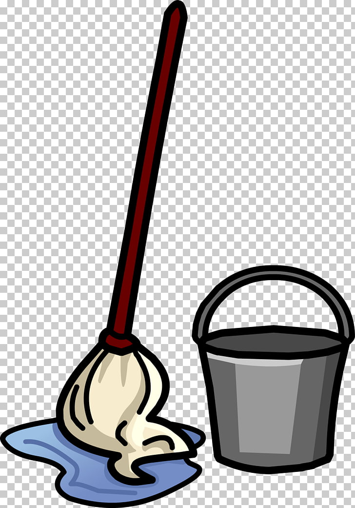 Mop Bucket Broom Janitor Cleaning, ucket PNG clipart.