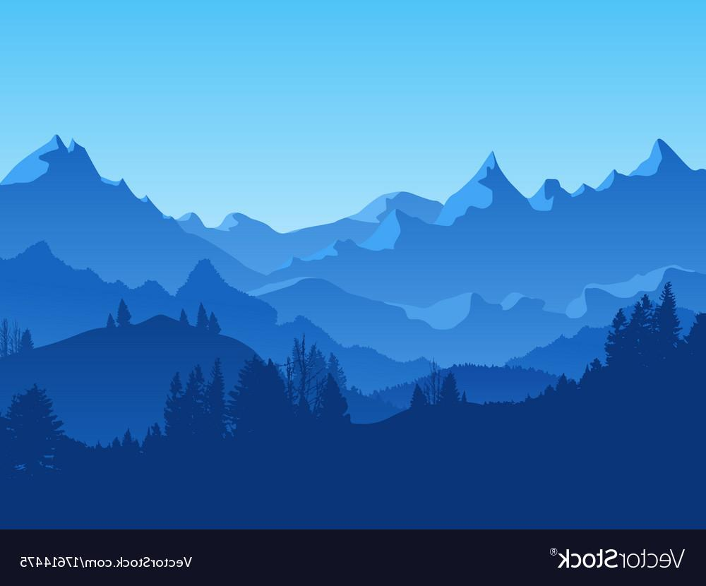 Best HD Mountain Landscapes Vector Image » Free Vector Art, Images.