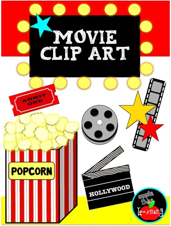 FREE Clip Art! Movie & theater clip art for the classroom.