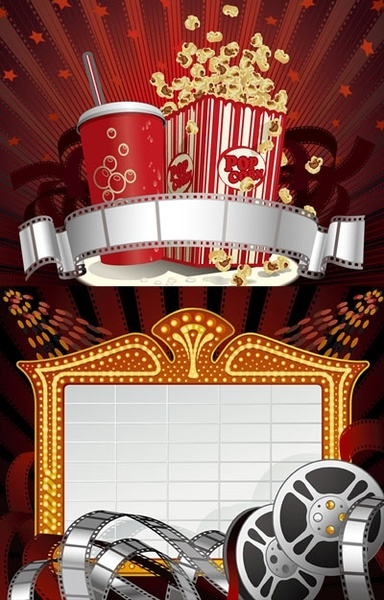 2 movie theme clip art Free vector in Encapsulated.
