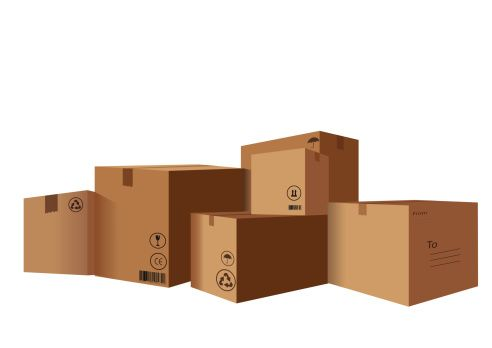 Corrugated Moving Boxes Clip Art, Vector Images.