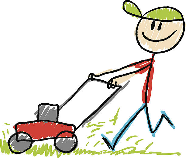 43 Lawn Mowing free clipart.