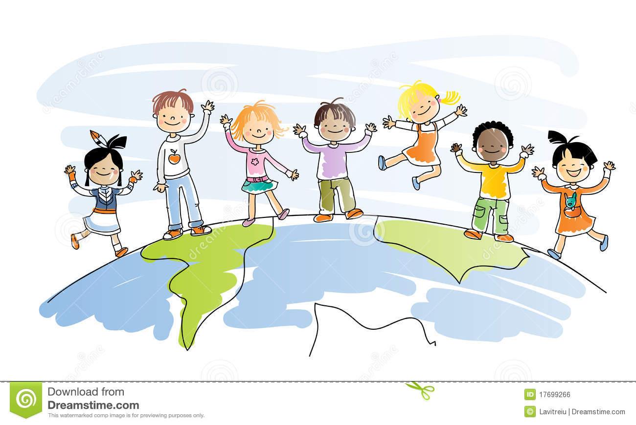 Multicultural Children Clip Art Free.