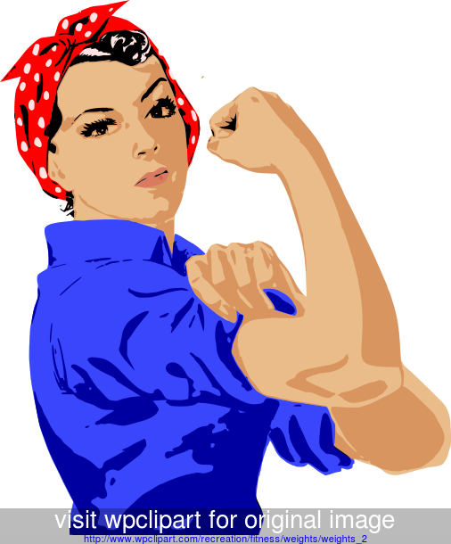 free clip art muscle arms.