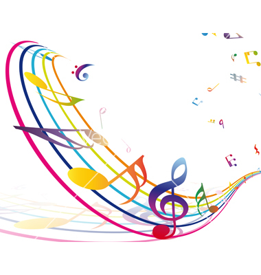Musical borders colorful music note border free clipart.