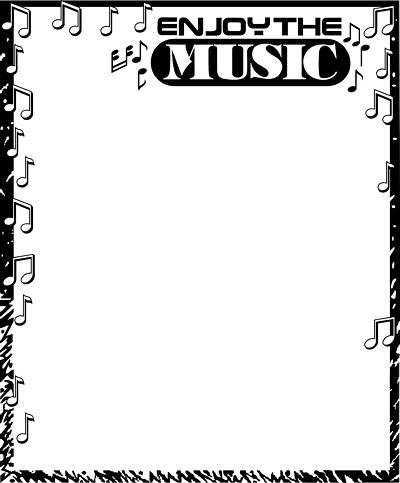 Free Music Borders Clip Art.