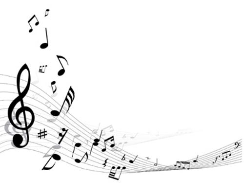 Free Printable Musical Notes Borders.