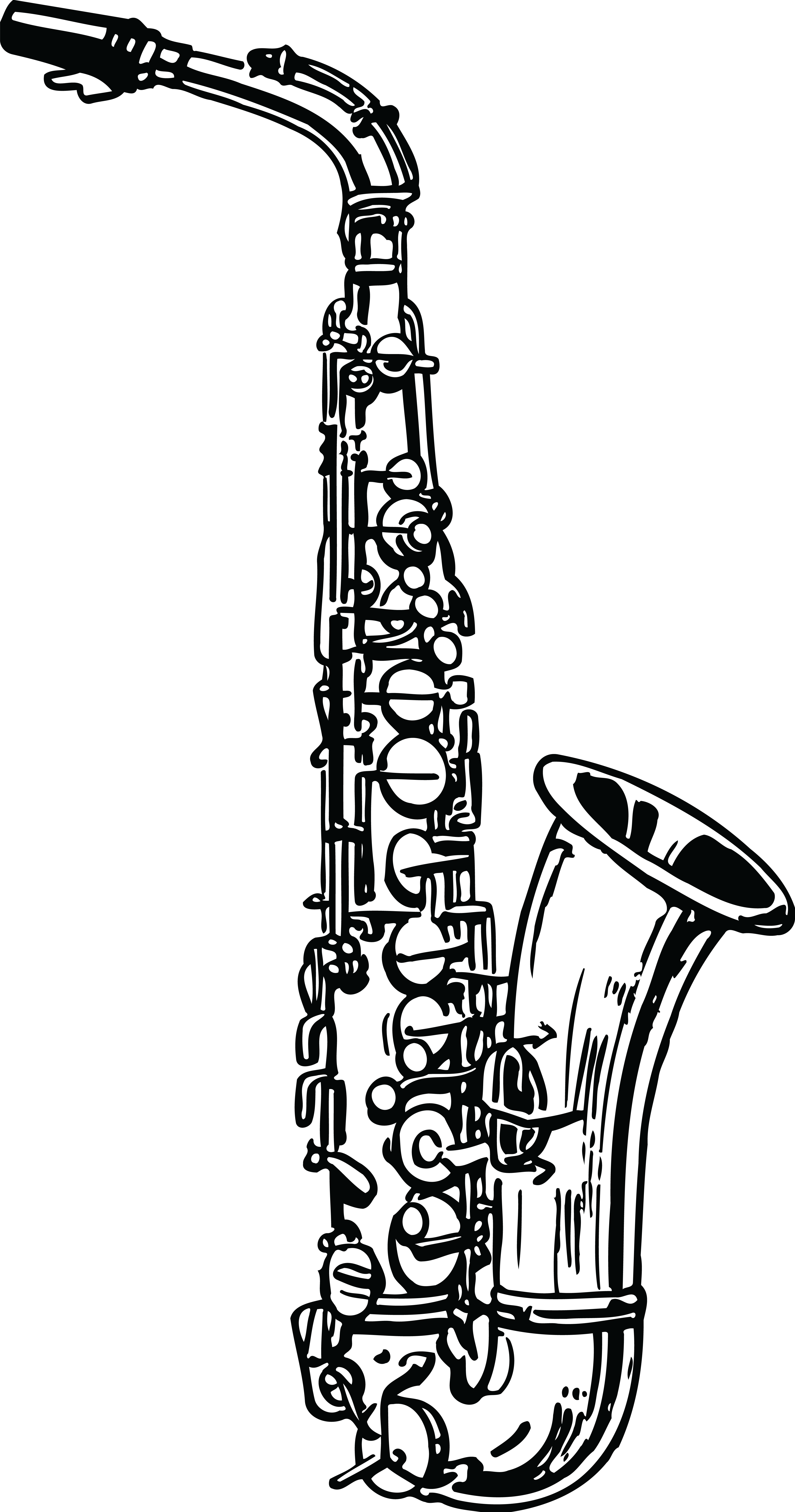 Clipart Musical Instruments Black And White.