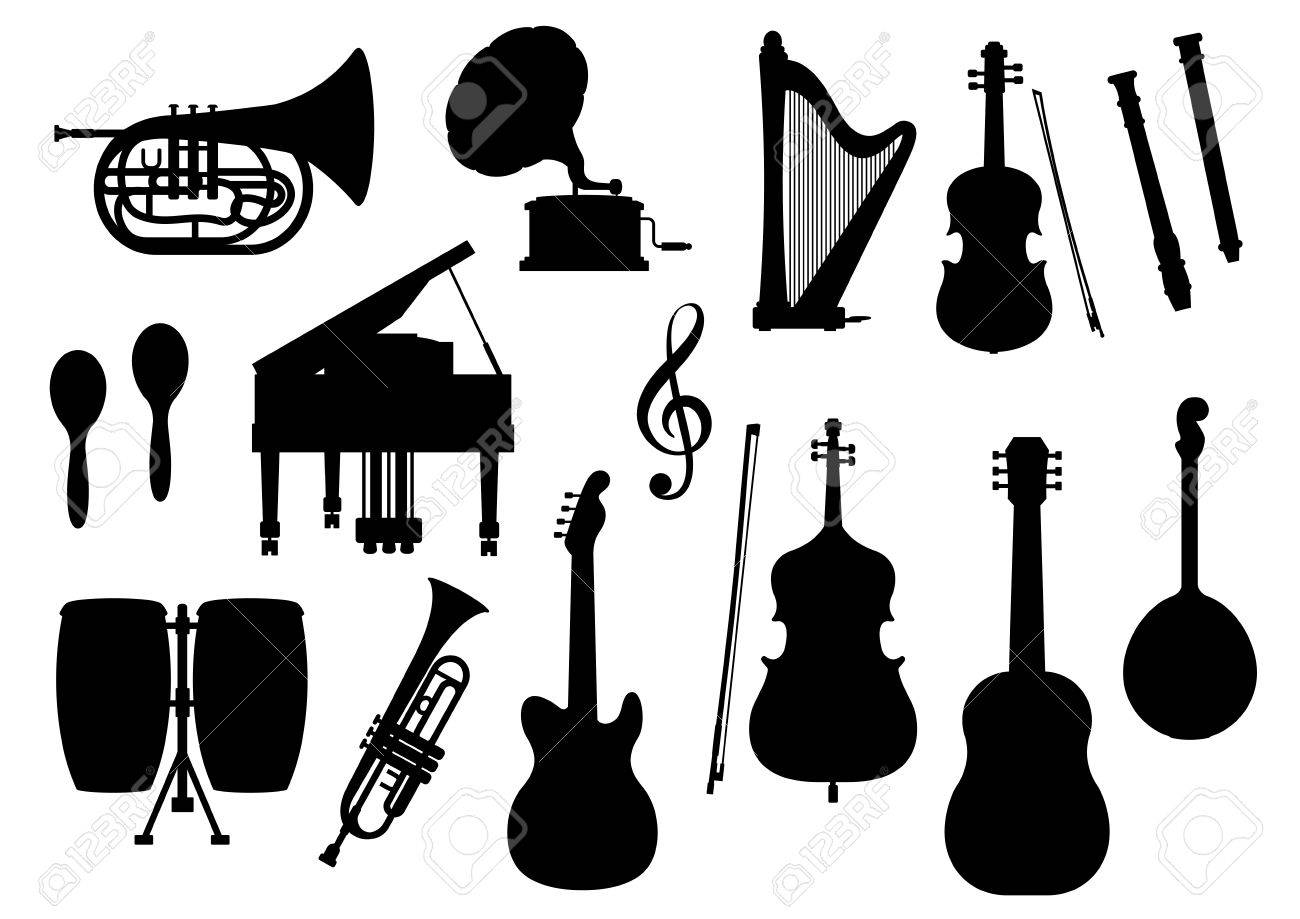 4299 Musical free clipart.