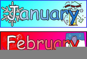 Clipart Names Of Months.