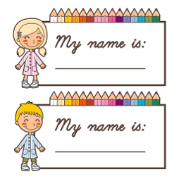 Free Printable Name Tags For Children\'s Church Kids.