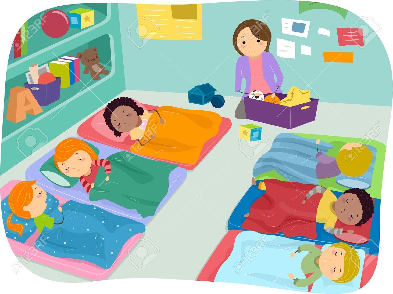 Preschool Nap Time Clipart.