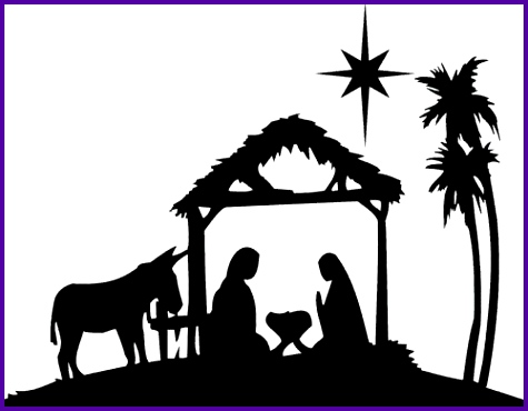 Nativity scene silhouette pattern free Free Nativity Clipart.