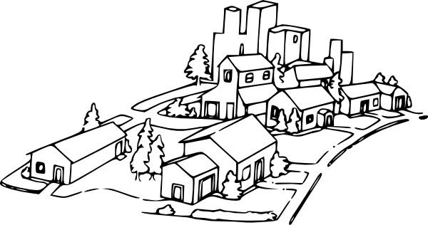 Neighborhood clip art Free vector in Open office drawing svg.