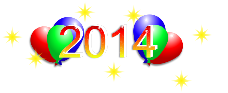 Free Clipart: Happy New Year 2014.