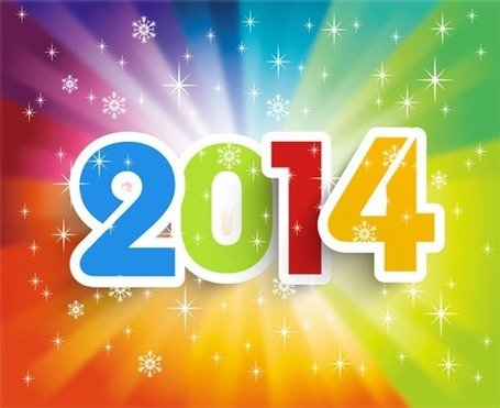 Free Happy New Year 2014 Colorful Backgrounds Clipart and.