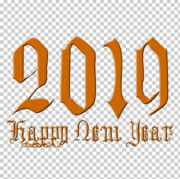 Happy New Year 2019 Transparent PNG, Clipart, Area, Art, Brand, Line.