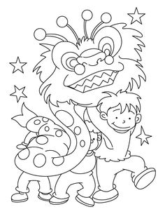 Clipart New Year Baby Black And White.