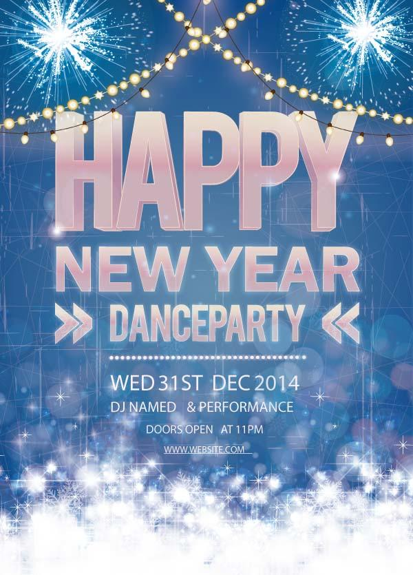 Free Clipart New Year Dance Party.